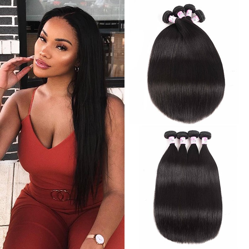 Remy Indian Straight Hair Weave