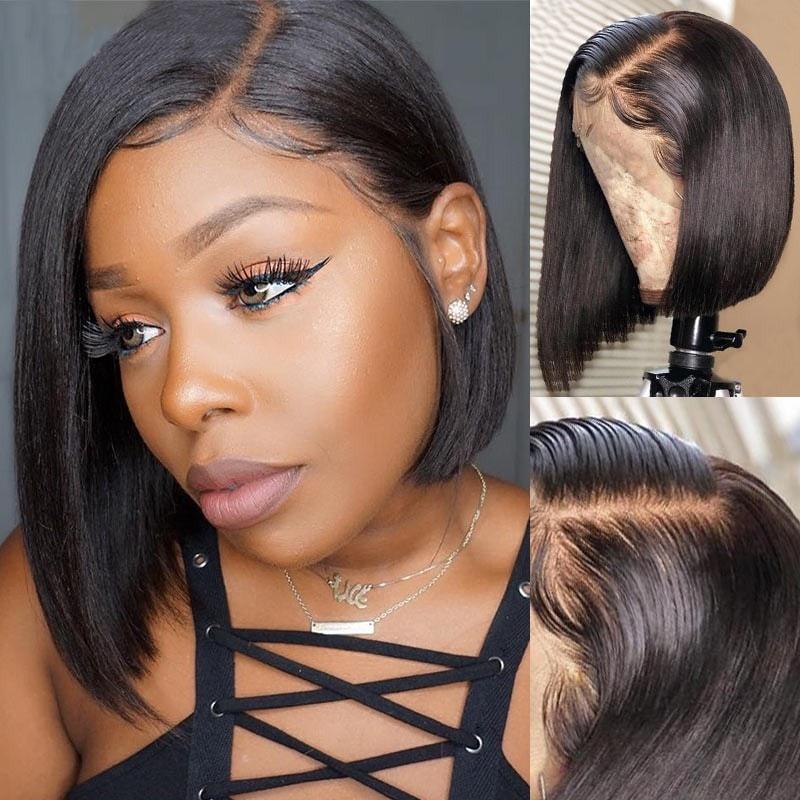 Beautyforever Natural Hairline Short Full Lace Bob Wigs Virgin Human Hair 150 Density