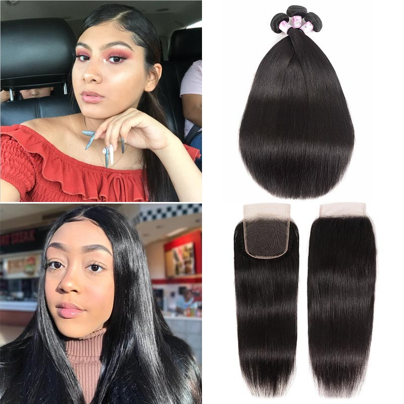 Straight Lace Closure With Human Hair
