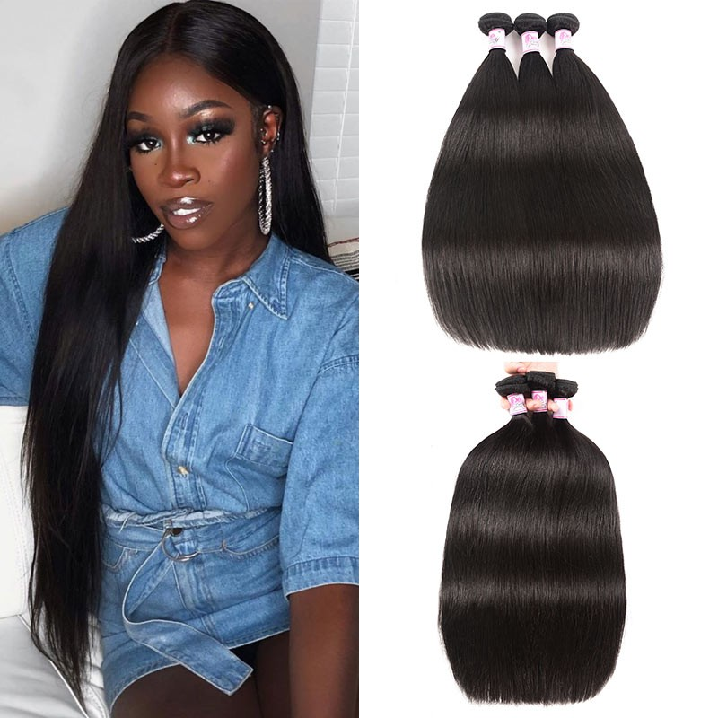 Straight Weave Remy Human Hair 4Bundles