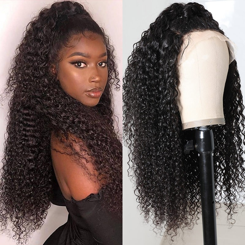 Three Part Jerry Curly  Wigs