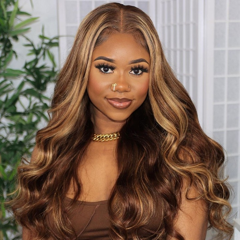 TL412# Color Human Hair Lace Front Wigs