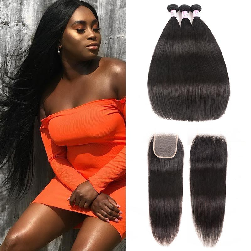 Transparent Lace Closure Straight Hair