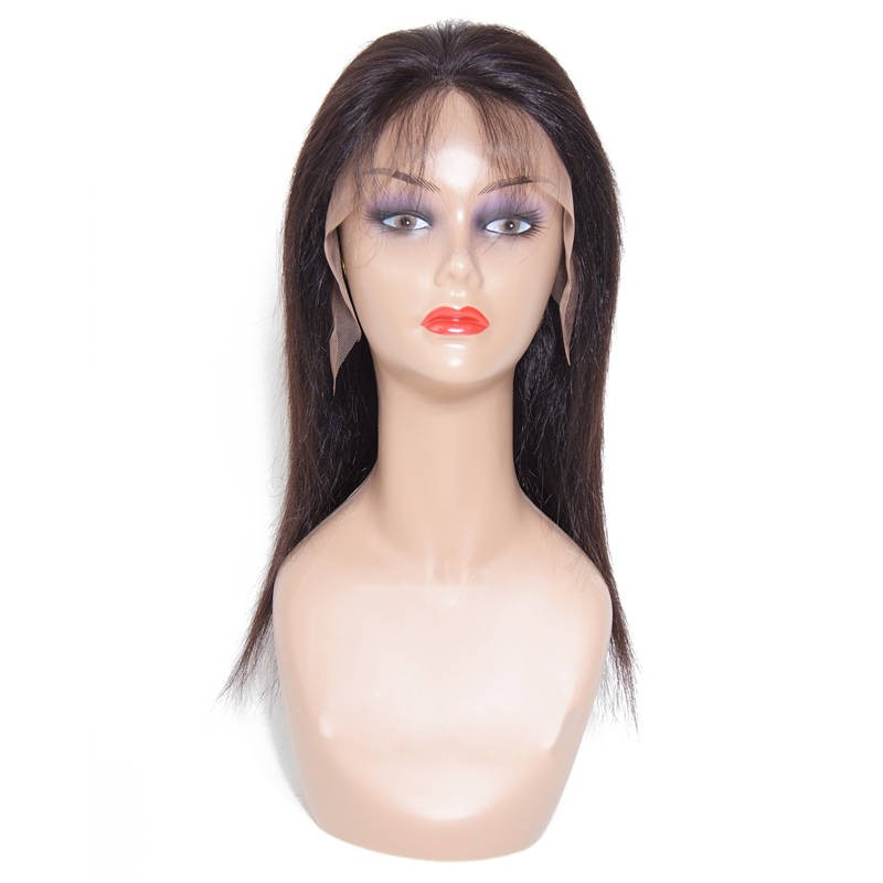 161fe48b8 Beautyforever Medium Long Free Part Straight Lace Front Human Hair Wig With  Baby Hair