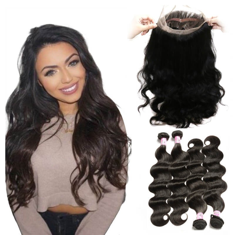 Beautyforever 360 Lace Frontal Closure Body Wave With