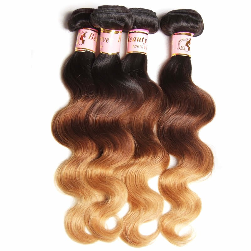 Beautyforever Ombre Brazilian Hair 3bundles Body Wave Hair Ombre
