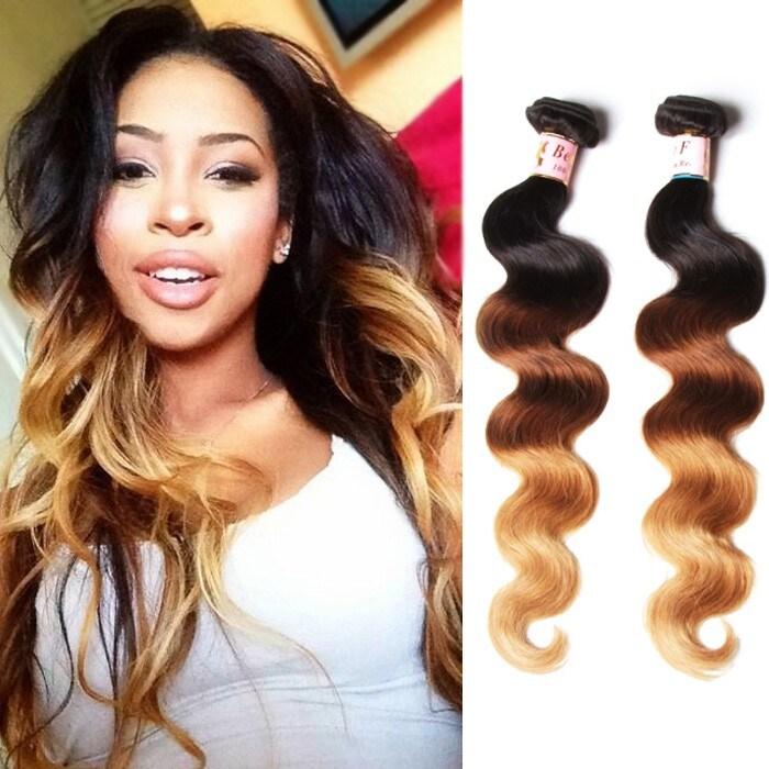 Beautyforever 3 Bundle Deals Ombre 7a Indian Hair Weave