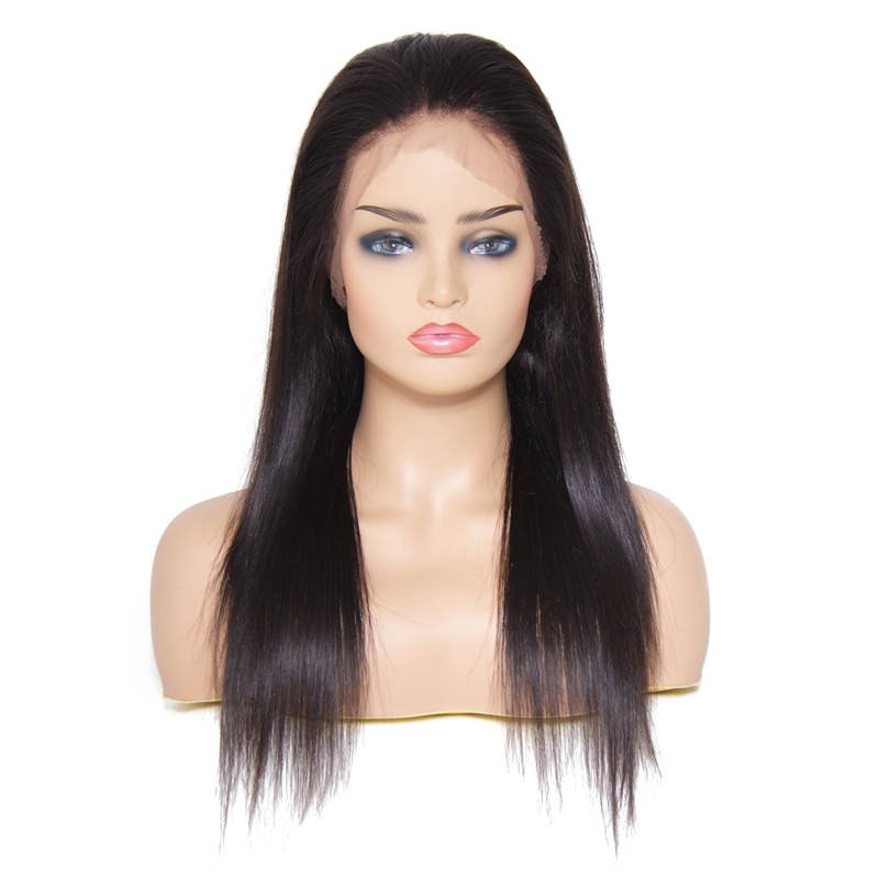 20613a8d4 Beautyforever Pre-Plucked Free Part Long Straight Full Lace Human Hair Wig