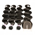 Beautyforever 3Bundles Malaysian Body Wave Hair With Lace Closure