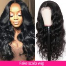 Beautyforever Body Wave Fake Scalp Wig 150% Density 13x4 Lace Front Wigs Human Hair Natural Color