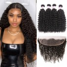 Beautyforever 13X4 Malaysian Curly Hair Lace Frontal Closure With 4Bundles