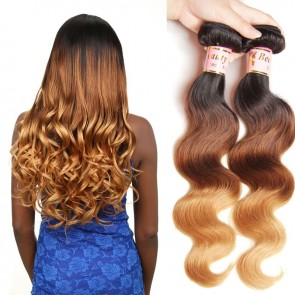 4Bundles Indian Ombre Body Wave Hair Weaves