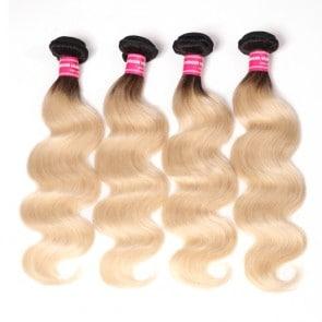Dark Root Blonde Hair Weave