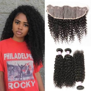 Jerry Curl with Lace Frontal Closure