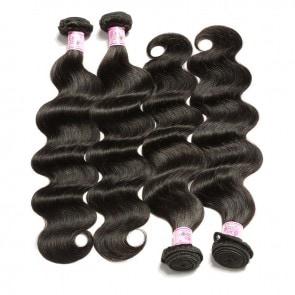 Premium Malaysian Body Wave Human Virgin Hair 4Bundles Deals 1B Color