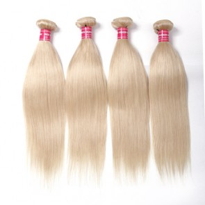 4Bundles Straight Hair Weave 613 Blonde Hair