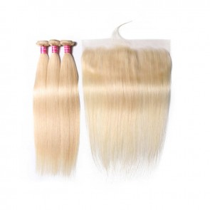 Beautyforever 613 Blonde Straight Lace Frontal With 3 Bundles Deals