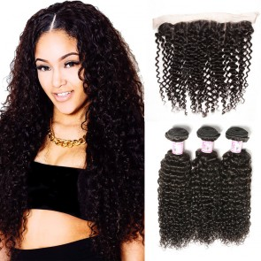 Jerry curly lace frontal closure