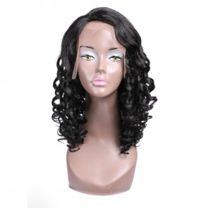 Deep Curly Human Hair Lace Front Wigs