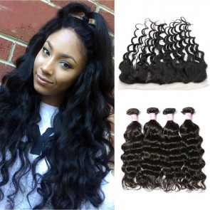 Free Part Lace Frontal Closure With 4Bundles
