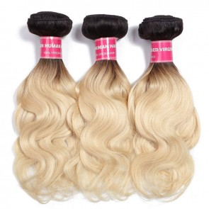 Black Roots Blonde Hair Weave