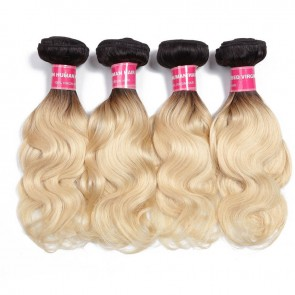 Dark Root Blonde Hair Weave