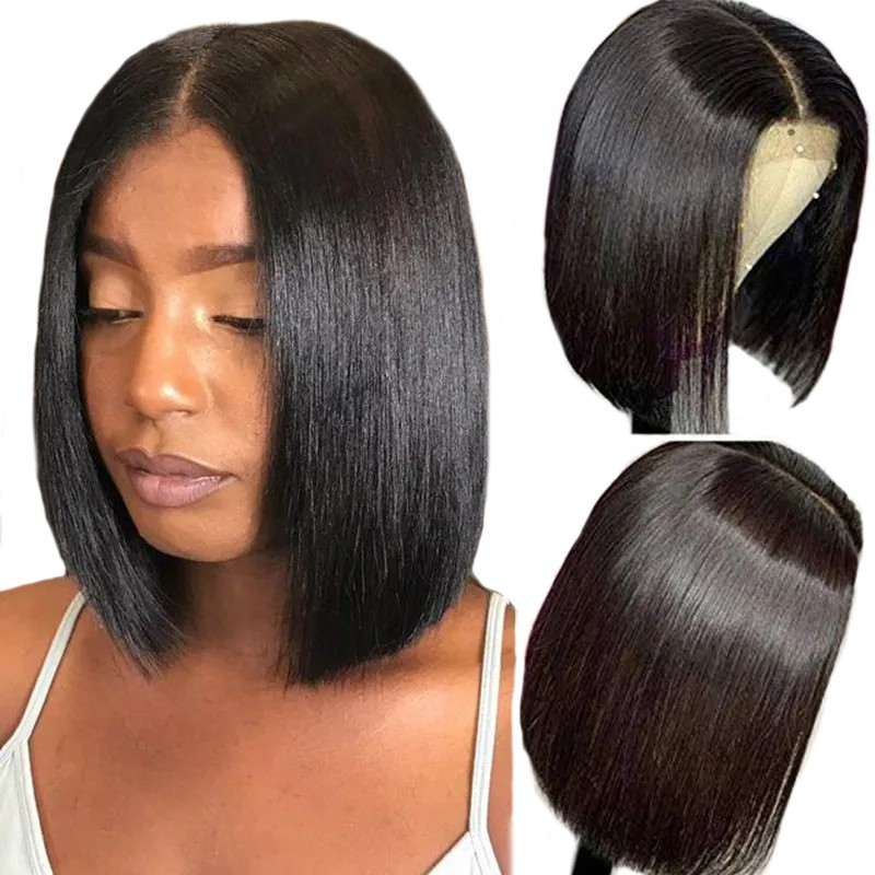 Beautyforever 13x6 Lace Front Shoulder Length Bob Wig 150% Density Human Hair Wigs On Sale
