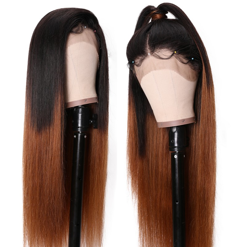Ombre Hair 13x6 Straight Lace Front Wigs