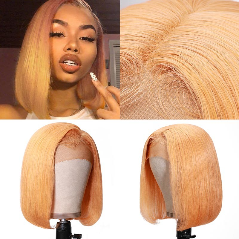 Yellow Bob Lace Front Wigs
