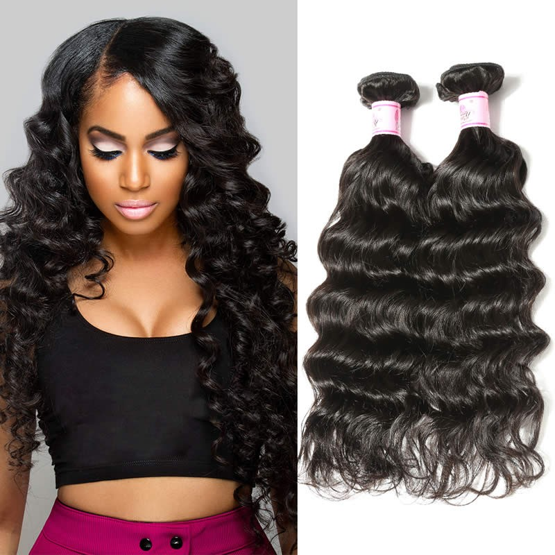 Beautyforever Virgin Brazilian Natural Wave Hair 4Bundles Weaves 0080102273