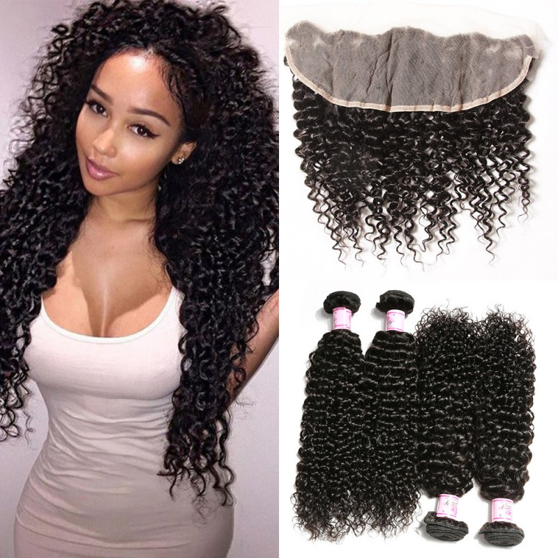 Malaysian Curly lace frontal closure