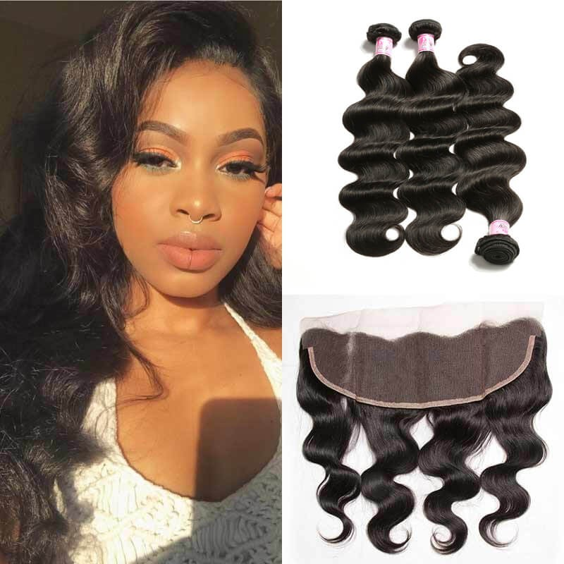 Lace Frontal Closure With 3 Bundles