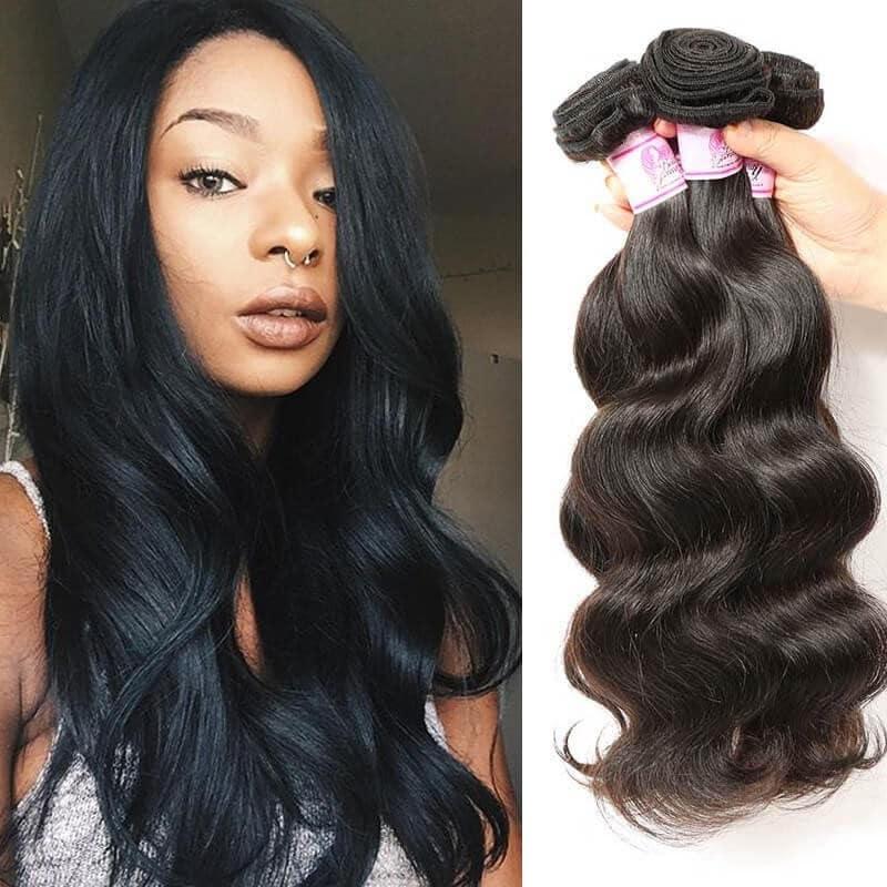 Beautyforever Indian Body Wave 4Bundles Human Virgin Hair Weft f3fab6d1a8