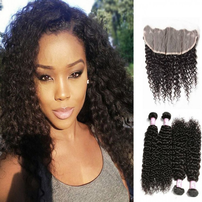 Jerry curly frontal lace closure