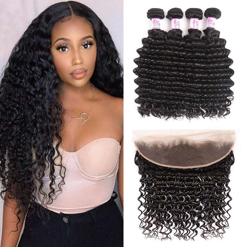 Deep Wave 4 Bundles With Closure