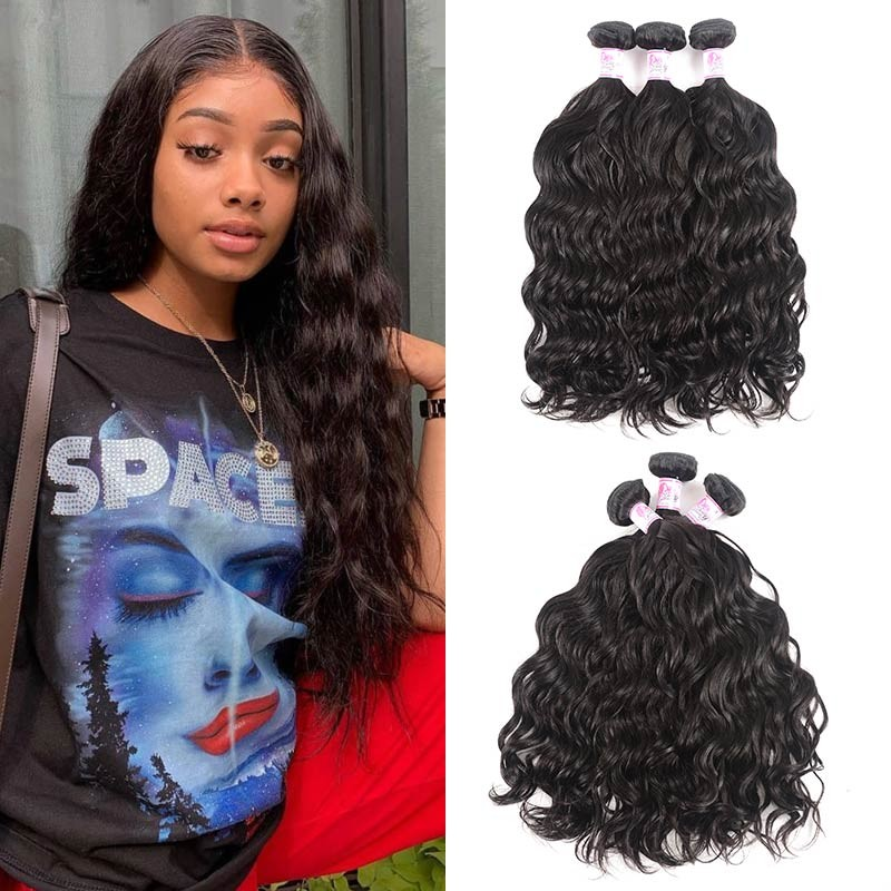 Virgin Human Hair Natural Wave Wavy Hair