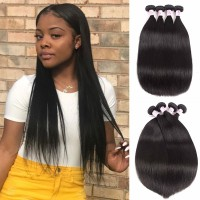 Beautyforever Brazilian Straight Virgin Hair 4 Bundles 8-30 Inches