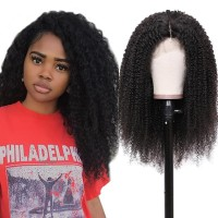 Beautyforever Realistic Lace Front Kinky Curly 150% Density Human Hair Wigs