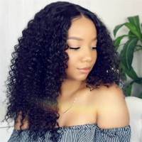 Beautyforever 100% Human Hair Lace Front Bob Wigs Kinky Curly Hair For Women