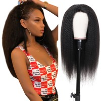 Beautyforever Realistic 360 Lace Frontal Wig Long Kinky Straight 180% Density Human Hair Wigs On Sale