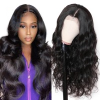 Beautyforever Pre Made Body Wave 13x6 Fake Scalp Lace Wigs For Women Pre-plucked Human Hair Wig 150% Density