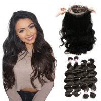 Beautyforever 360 Lace Frontal Closure Body Wave With 4Bundles Human Hair Weave