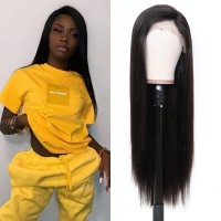 Beautyforever Straight Hair Pre-plucked 360 Lace Frontal Wigs Human Hair 180% Density