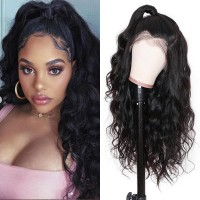 Beautyforever Hot Selling Body Wave 360 Lace Frontal Wig  180% Density Pre-plucked Brazilian Human Hair Wigs