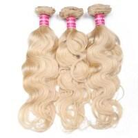 Beautyforever Blonde 613 Hair Weave 3 Bundles Body Wave Virgin Human Hair Weft