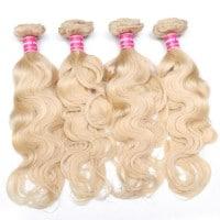 Beautyforever Hair Color 613 Blonde 4Bundles Body Wave Weave
