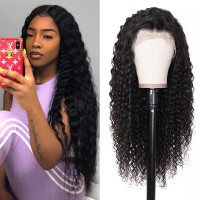 Beautyforever 360 Lace Frontal Long Realistic Water Wave 180% Density Human Hair Wigs On Sale