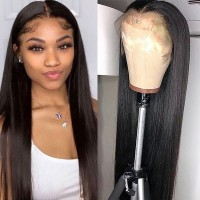 Beautyforever 180% Density Realistic Long Straight Hair 4x4 Lace Closure Wigs