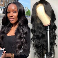 Beautyforever Body Wave 13X4 Lace Front Wigs Pre-plucked Human Hair Wig 180% Density