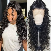 Beautyforever Realistic 360 Lace Frontal Long Natural Wave 180% Density Human Hair Wigs
